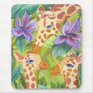 African Giraffe Kisses (Kimberly Turnbull Art) Mouse Mat