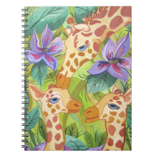 African Giraffe Kisses (Kimberly Turnbull Art) Notebook