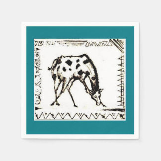 african giraffe napkins. disposable napkins