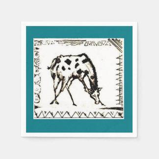 african giraffe napkins. disposable serviette