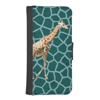 African Giraffe on Blue Camouflage