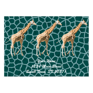 African Giraffe on Blue Camouflage Pack Of Chubby Business Cards