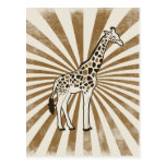 African Giraffe Original Art Post Card