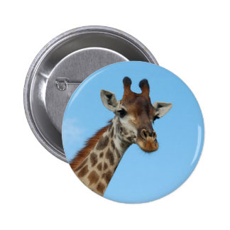African Giraffe Wild Animal Photo Design 6 Cm Round Badge