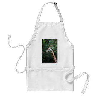 African giraffe with tongue hanging out apron
