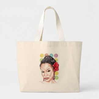 African Girl Jumbo Tote Bag