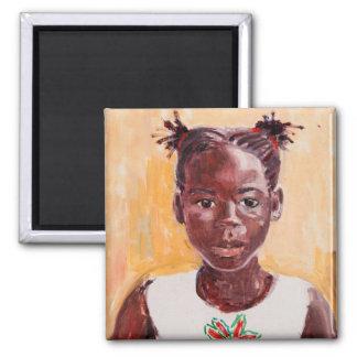 African Girl Magnet