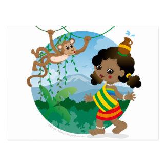 African girl postcards