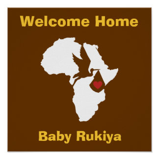 African Gotcha Day - Welcome Home Poster