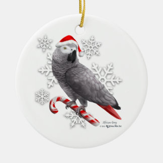 African Gray Christmas Ornament