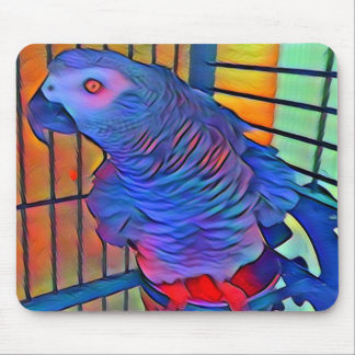 African Grey 1  Mouse Pad
