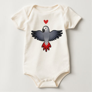 African Grey / Amazon / Parrot Love Baby Bodysuit