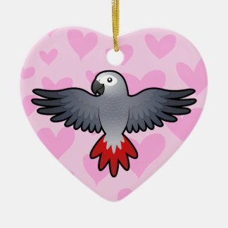 African Grey / Amazon / Parrot Love Christmas Ornament