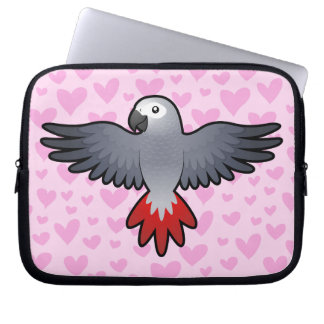 African Grey / Amazon / Parrot Love Computer Sleeves