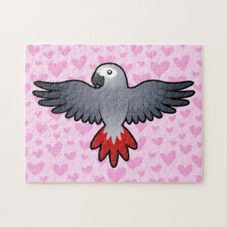 African Grey / Amazon / Parrot Love Jigsaw Puzzle