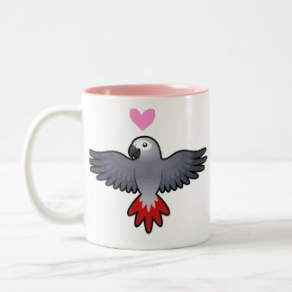 African Grey / Amazon / Parrot Love Two-Tone Coffee Mug
