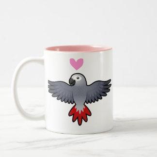 African Grey / Amazon / Parrot Love Two-Tone Coffee Mug