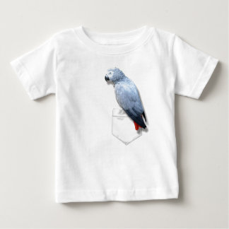 African Grey In Your Pocket Baby T-Shirt