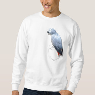 African Grey In Your Pocket Sweatshirt