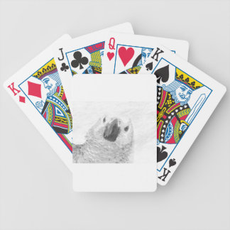 African Grey Parrot Bicycle Playing Cards