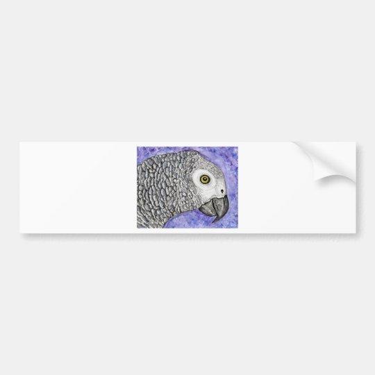 African Grey Parrot Bumper Sticker