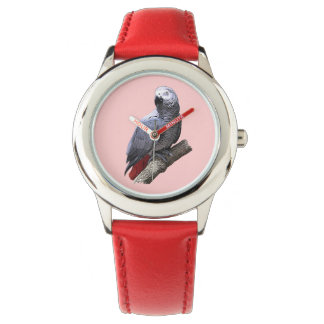 African Grey Parrot -- Choose Own Background Color Watch