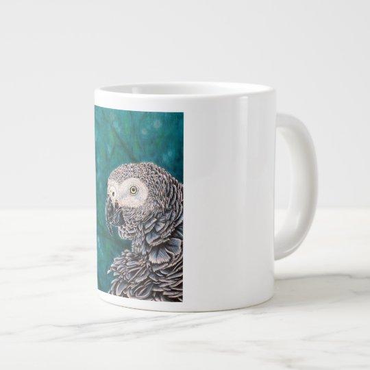 African Grey Parrot Coffee Cup - Bird Mug