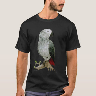 African Grey Parrot (dark design) T-Shirt