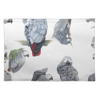 African Grey Parrot. Exclusive designed by Griff Placemat