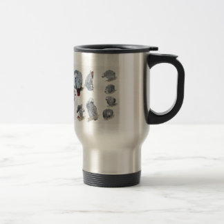 African Grey Parrot. Exclusive designed by Griff Travel Mug