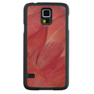 African Grey Parrot Feather Design Carved Maple Galaxy S5 Case
