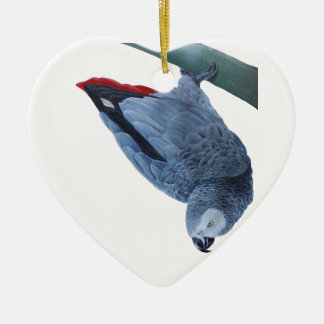African grey parrot gifts ceramic heart decoration