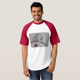 African Grey Parrot hunched over T-Shirt