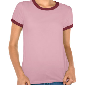 African Grey Parrot Ladies Melange Ringer T-shirt