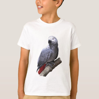 African Grey Parrot on Branch T-shirts
