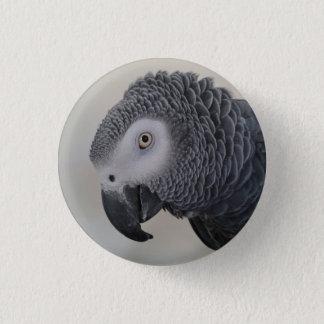 African Grey Parrot Pin / Badge