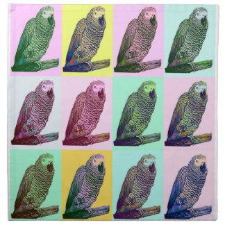 African Grey Parrot Pop Art Napkin