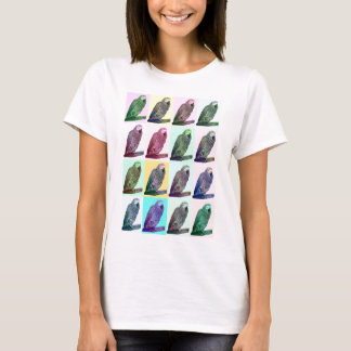 African Grey Parrot Pop Art T-Shirt