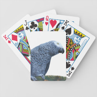 African Grey parrot portrait Bicycle Playing Cards