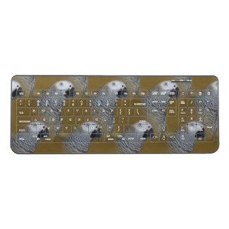 African Grey Parrot Profile Wireless Keyboard