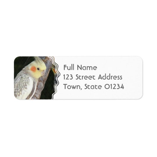African Grey Parrot Return Address Label