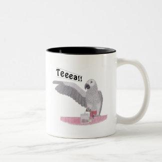 African Grey Parrot Teeea!! Tea Mug