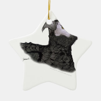 african grey parrot, tony fernandes ceramic star decoration