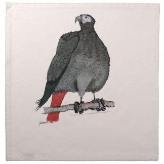 african grey parrot, tony fernandes napkin