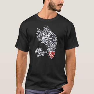 African grey parrot tribal tattoo T-Shirt