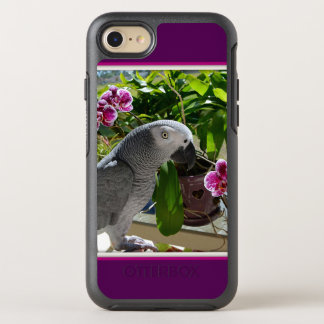 African Grey Parrot with Orchids OtterBox Symmetry iPhone 8/7 Case