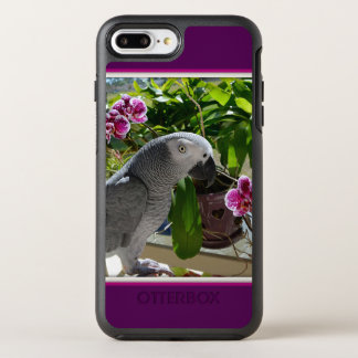 African Grey Parrot with Orchids OtterBox Symmetry iPhone 8 Plus/7 Plus Case