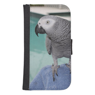 African Grey Pool Party Samsung S4 Wallet Case