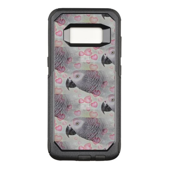 African Grey Puffy Hearts OtterBox Commuter Samsung Galaxy