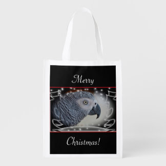 African Grey Snowy Christmas Market Tote